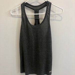 Gray racer back workout top